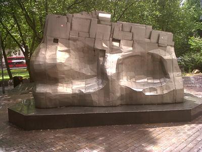 sculpture by Eduardo Paolozzi by Euston station