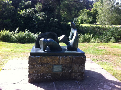 Henry Moore sculpture at Scotney Castle