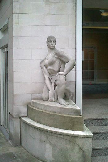 Figure of Youth, sculpture by Wilfred Dudeney