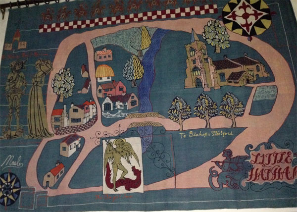Michael O'Connell tapestry in Little Hadham Church