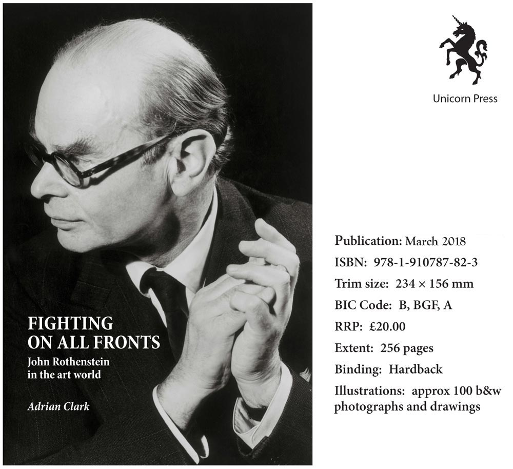 Flyer for John Rothenstein: Fighting on All Fronts by Adrian Clark